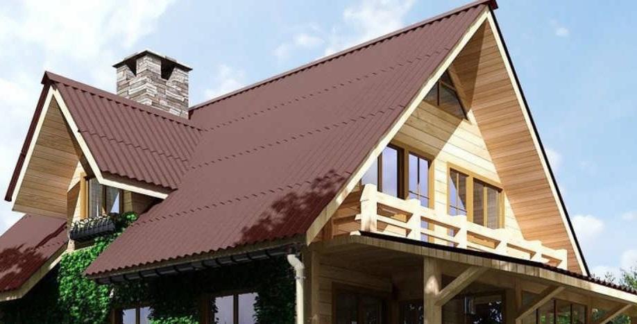 Крыша, покрытая ондулином