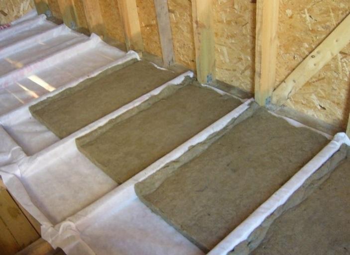 Утепление крыши и потолка в бане