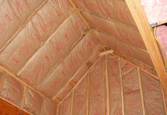 Утеплитель для крыши в бане