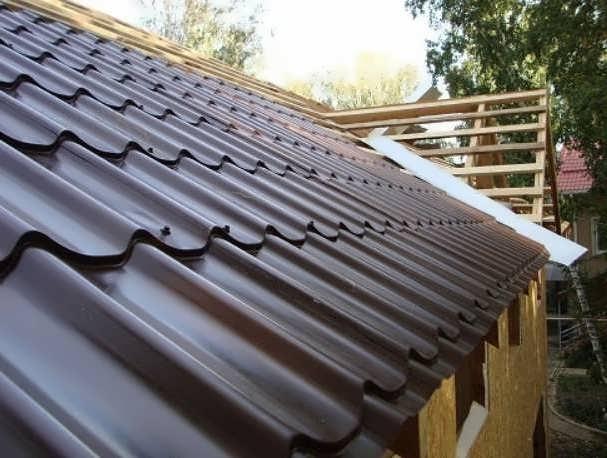 Угол наклона крыши из металлочерепицы